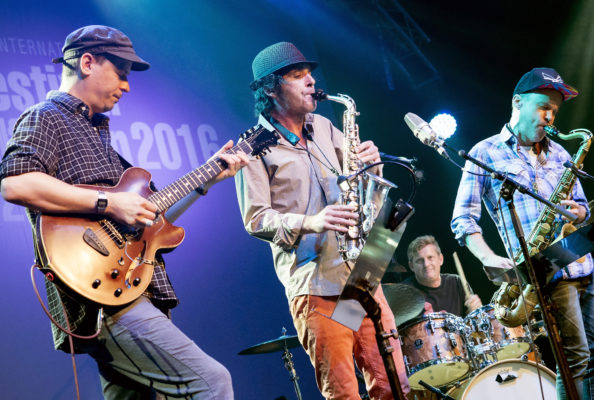 Pic Tim Dickeson 28-08-2016 Chris Speed (Tenor Sax) Andrew D'Angelo (Alto Sax) Kurt Rosenwinkel (Guitar) Jim Black (Drums)